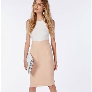 NWT Natural Wrap Waistband High Waist Midi skirt